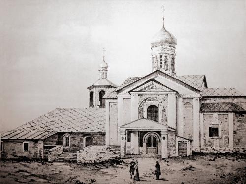 Церковь Иоанна Предтечи до перестройки монастыря